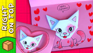 diy valentine u0027s day card cat hearts crafts ideas for kids