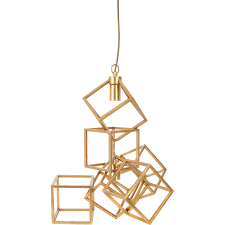 60 gold tone cubed ceiling light 60cm ceiling lights lighting