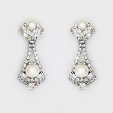 pearl drop earrings erin cole wedding jewelry modern pearl drop earrings