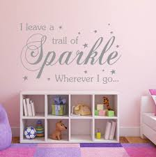 princess wallpaper etsy leave trail sparkle wherever wall decal vinyl sticker childrens bedroom decoration gift for her easter unique