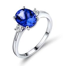 tanzanite engagement ring carat tanzanite engagement ring side stones 18k white gold