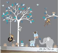 Wall Decals For Nursery Boy Baby Boy Wall Decal Nursery White Tree By Littlebirdwalldecals