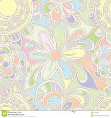 flower drawing pastel color seamless pattern stock vector image