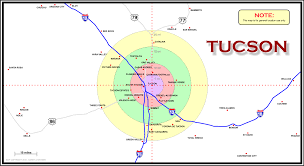 Arizona Map Cities by Map Of Tucson Arizona Area A2z Computer Works
