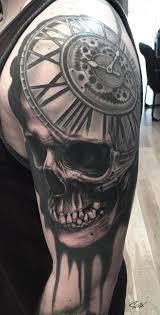 custom skull clock by marvin silva tattoonow