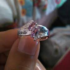 Wedding Rings At Walmart by Couple U0027s Personalized Promise Ring In Sterling Silver With Diamond