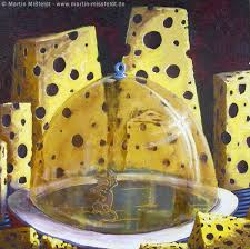 souris cuisine souris et fromage horreur dans la cuisine peinture à l huile