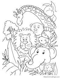 preschool jungle coloring pages animals worksheet activity sheet color 2 jungle animals worksheet