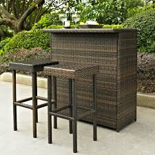 Patio Furniture Wicker Resin - palm harbor 3 piece outdoor wicker bar set table two stools by oj
