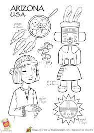 coloriage dessin enfant usa arizona 50 states pinterest