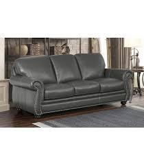 Abbyson Leather Sofa Reviews Sofas Kassidy Leather Sofa Grey