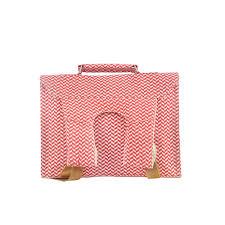 bakker made with love cartable cartable mini canvas chevrons rouge bakker made with love pour