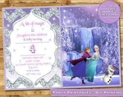 frozen birthday invitation frozen birthday party frozen invite