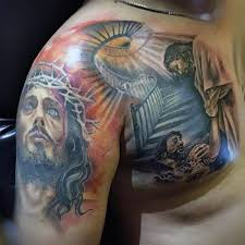 28 best jesus half sleeve tattoos for drawings images on