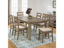 jofran slater mill pine 7 piece dining set includes table and 6