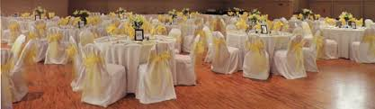 yellow chair sashes chair covers arvay event design rental