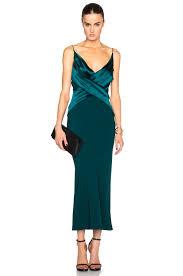 satin bias dion silk satin bias weave dress in emerald fwrd