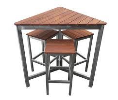triangle beer garden outdoor furniture set 4 piece galvanised