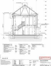cross section elevation for larch house in ebbw vale in wales uk