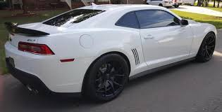 chevy camaro with rims 20 inch staggered varro vd01 satin black on 2015 chevy camaro zl1