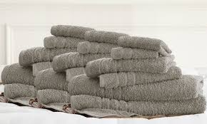 100 finest combed cotton towel sets 18 groupon