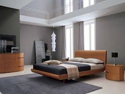 grey carpet and stylish platform bed for modern style bedroom