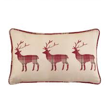 Stag Cushions Highland Stag Filled Boudoir Cushion Julian Charles