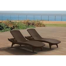 All Weather Patio Furniture Keter Pacific All Weather Outdoor Patio Brown Chaise Lounge Set