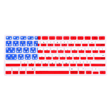 Ican Flag Amazon Com Hde Patriotic Silicone Rubber Keyboard Skin Cover For