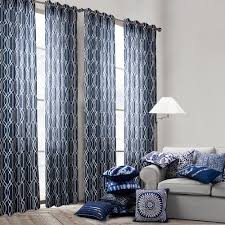 blue striped curtains bedroom gallery also dining room door