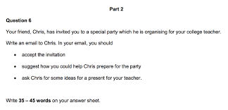 how to write an invitation to a party writing part 2 cambridge english preliminary pet