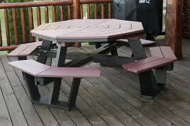 5 u0027 poly octagon picnic table from dutchcrafters amish furniture