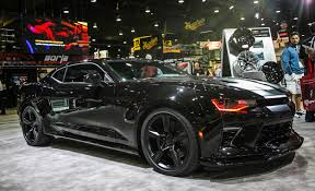 black on black camaro chevrolet rolls out four more camaros for sema 2015 car