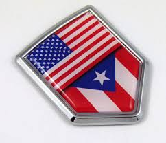 Ponce Flag Amazon Com Car Chrome Decals Cbshd171 Puerto Rico Decal Flag Car