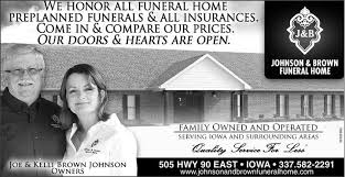 le funeral home lake city iowa johnson brown funeral home home facebook