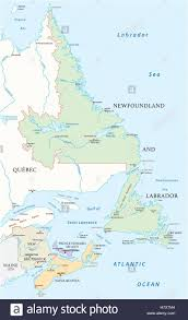 map of the provinces of canada map of the four canada atlantic provinces stock vector