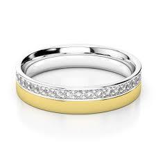 fusion wedding band white yellow gold mens fusion diamond wedding ring agdr 1287