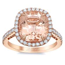 morganite gold engagement ring morganite gold halo engagement ring with floral basket