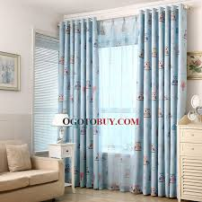 Kids Curtains Baby Blue Owl Pattern Print Room Darkening Buy Baby - Room darkening curtains for kids