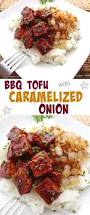 Need A Dinner Idea Bbq Tofu With Caramelized Onions Where You Get Your Protein