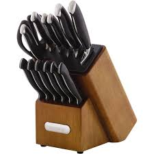 farberware edgekeeper pro self sharpening 14 piece knife block