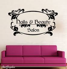 popular wall stickers nail buy cheap lots from vinyl wall decal nails beauty salon hair nail lettering words sticker