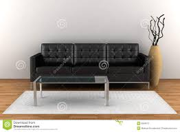 Rooms With Black Leather Sofa Interior With Black Leather Sofa Stock Photos Image 8584613