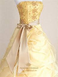 Wedding Dresses With Bows Yellow Military Ball Gowns Wedding Dresses With Ribbon And Bows