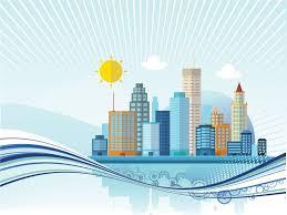 3d templates for powerpoint big city powerpoint templates 3d graphics blue buildings