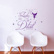wall decal quote saying the magic is in the detail with fairy elf wandtattoo zitat