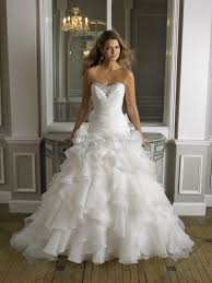 poofy wedding dresses wedding dresses 2016 drop waist fit flare organza cascading