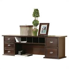 Cherry Desk With Hutch Kathy Ireland Home By Martin Tribeca Loft Cherry Reception