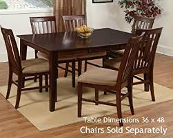 48 by 48 table amazon com shaker dining table with 36 x 48 solid top in an