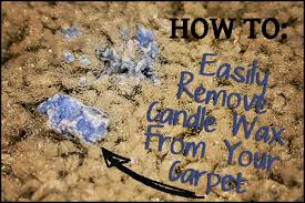 stop procrastinating and easily remove candle wax from your carpet